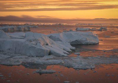Sunset at Ilulissat Ice Fjord