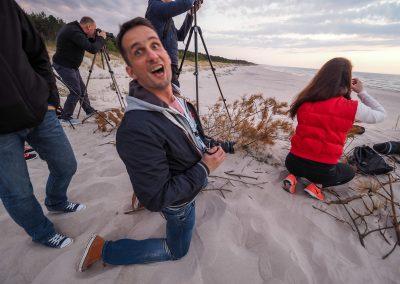 po wykładach niektórzy prwadzący też uczą się fotografować (warsztaty Łeba 2016)