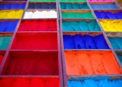 Kolorowe proszki