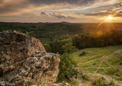 zachód słońca - Góra Zaborów (fot. Grzegorz Maciąg)
