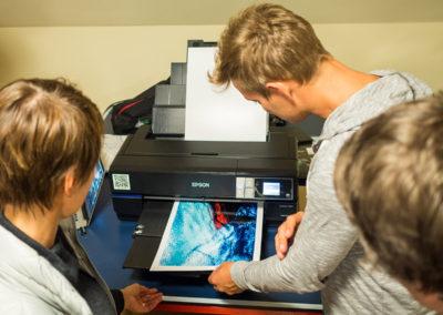 pierwsze efekty pracy - drukowanie zdjęć (Pieniny 2017, fot. Patryk Erbetowski)